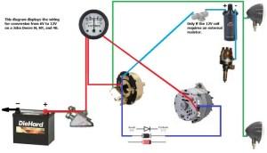 correct alternator wiring 6v to 12v?  John Deere Forum