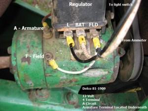 Polarizing 12 Volt Generator o  Yesterday's Tractors