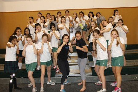 Gr. 9's Learn Self-Defence with Elements Martial Arts