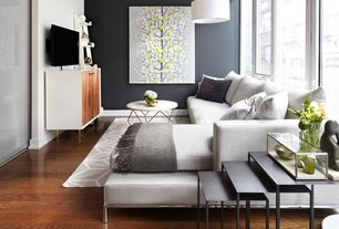 Contemporary Table Lamp For Stylish Living Room Decorating Ideas With White Wall Color And Grey Window