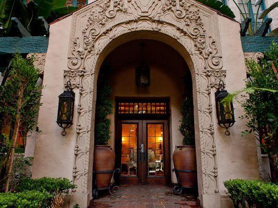 On The Historic Los Altos Apartments Courtyard Fountain Front Entrance