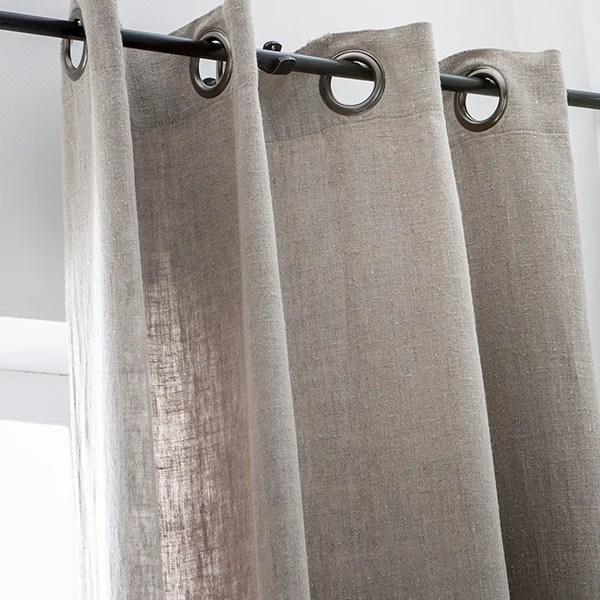 rideau propriano naturel en lin 140x280cm