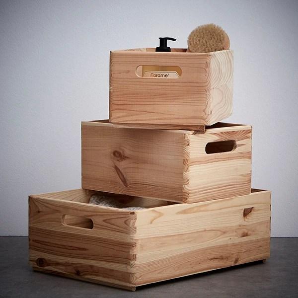 tiroir bois brut poignee 30x20