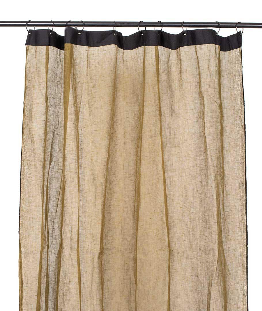 rideaux bonifacio 100 lin a œillets naturel 140x280cm