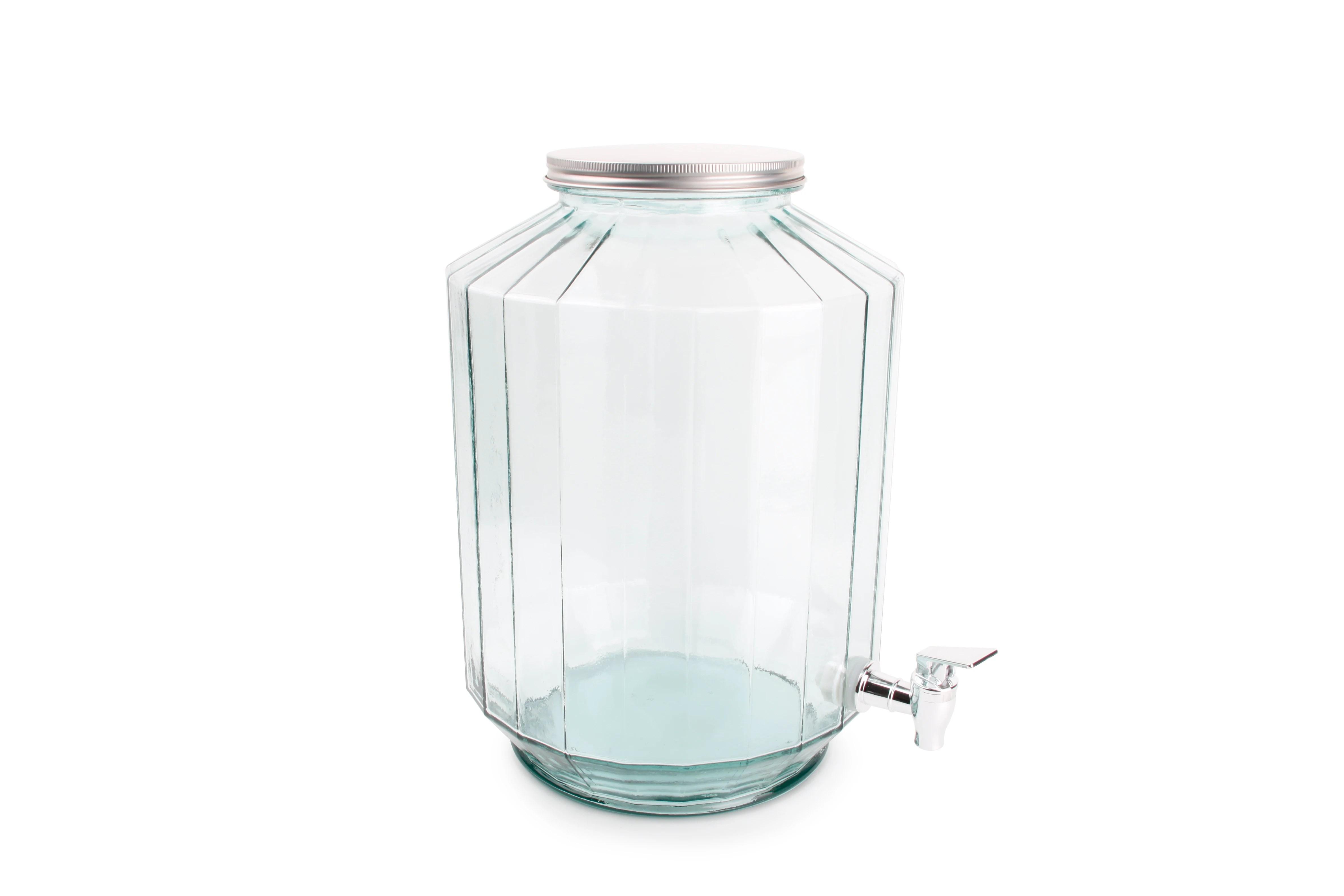 fontaine a boisson facette en verre recycle strepe 12l