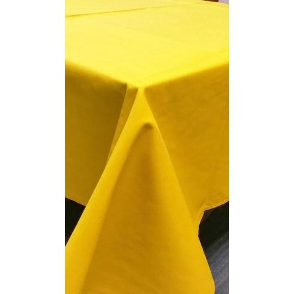 nappe antitache 150x200cm en coton moutarde