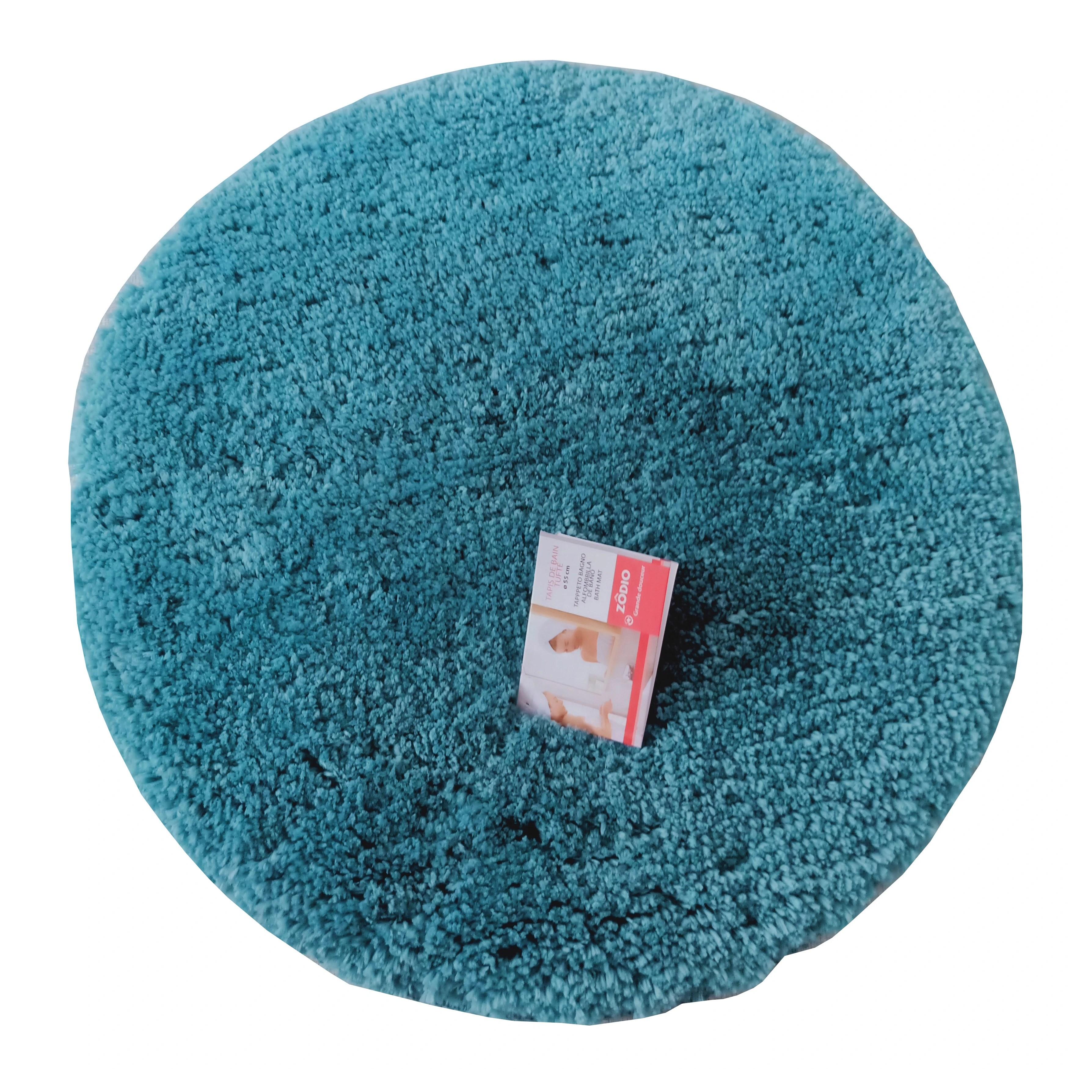 tapis de bain rond 55x55cm en coton tufte postal
