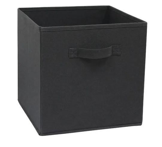 panier rangement intisse l noir 31x31x31 spaceo