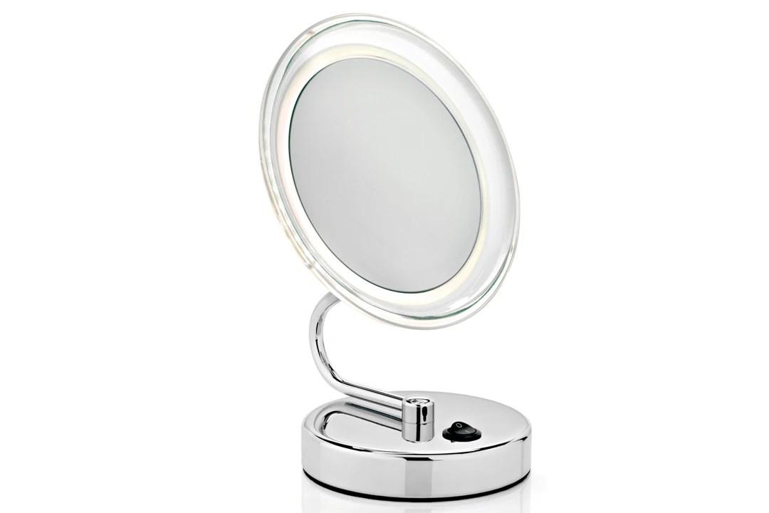 Miroir Grossissant Lumineux A Poser Double Face X10 Pas Cher Achat En Ligne Zodio