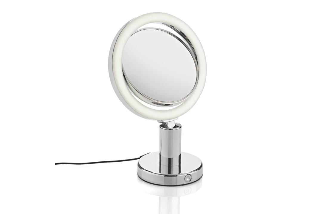 Miroir Grossissant Lumineux Rond Double Face X7 19cm Pas Cher Achat En Ligne Zodio
