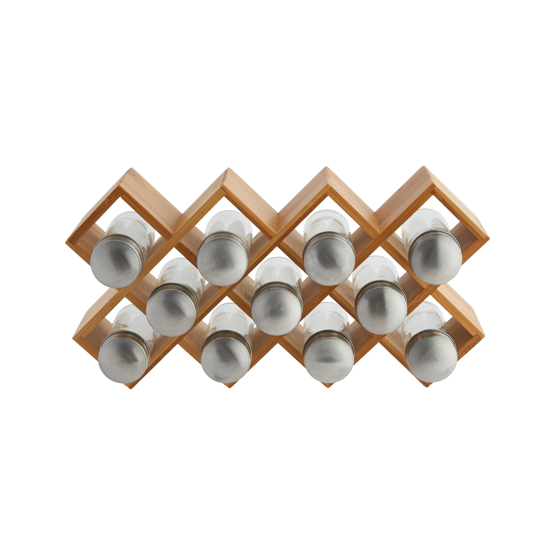 support a epices en bambou 11 compartiments 36 5x8x18 7cm