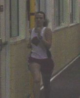 a little dark, but me clearly in pain running the 400m