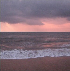 Pink horizon in Goa