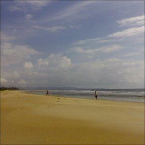 Rantatennistä Varca Beachillä Goassa