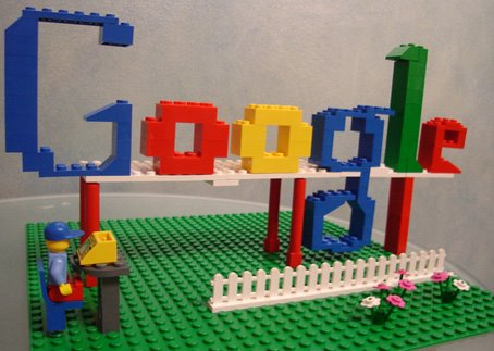 Google Talkabout  Lego Logos There s just one way to solve this  elevate the rest of the letters  and  put a lego man beneath it  just for fun