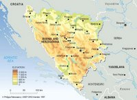 Map of Bosnia-Herzegovina