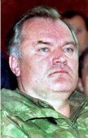 Ratko Mladic, charged with genocide in relation to Srebrenica massacre. Currently on the run.