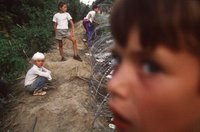 Srebrenica Massacre (7/11 1995) - Srebrenica boys, before being led away and murdered.