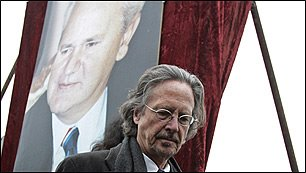 Peter Handke - Srebrenica Genocide Denier - Attends Slobodan Milosevic's funeral