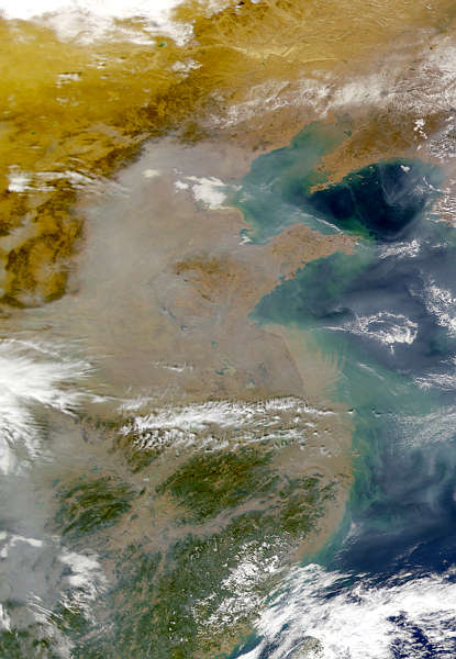 Image result for the brown cloud over China
