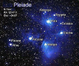 Pleaidele, cu Electra înainte, spre grumazul Taurului Soarelui...