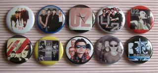 U2 PINBACK BUTTON BADGES
