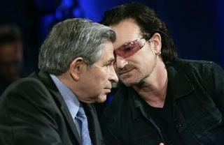 Bono y Paul Wolfowitz