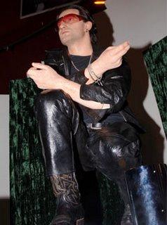 Bono en el museo de cera Madame Tussauds