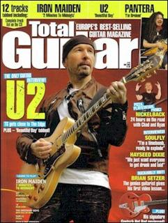 The Edge in Total Guitar Magazine