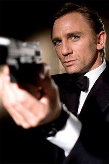 Daniel Craig, jouant James Bond dans le nouveau film Casino Royale