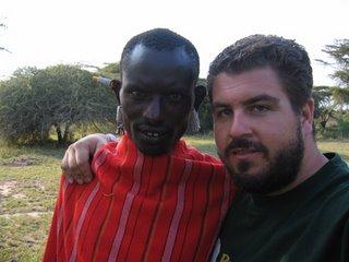 Paco y Kirotie en Loita Hills, agosto de 2005