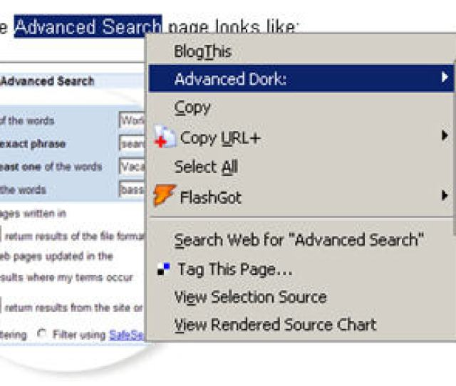 Known As Advanced Dork This Extension Provides Right Click Access To Googles Advanced Operators Like Intitle Inurl Intext Ext And Filetype