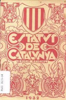 Imagen de la portada del anterior Estatut catalán que tantas vueltas ha estado dando en su historia