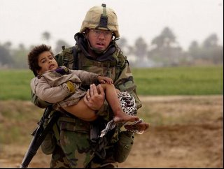 Soldier with Child
