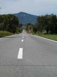 Carretera B-142, llegando a Sentmenat