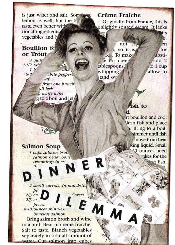 dinner dilemma gluebook page