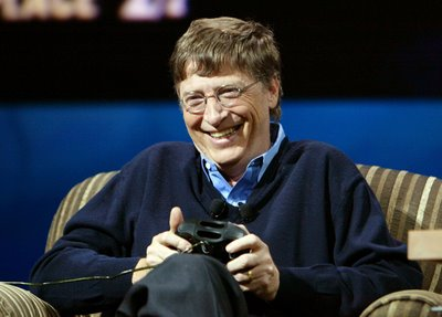 Bill Gates Is happy with his new XBox