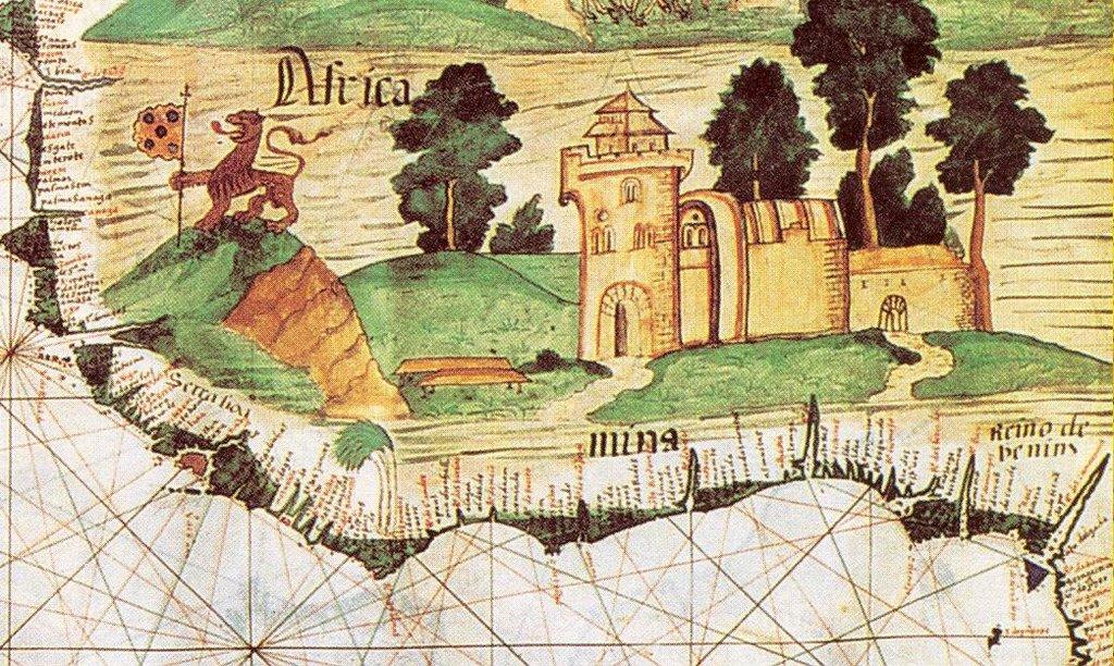 Resultado de imagem para costa da mina mapa