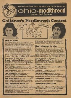 Chic-Modithread Children's Needlework Contest