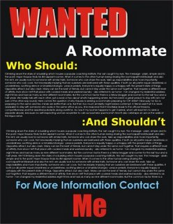 A Possible Ad Looking for a Roommate