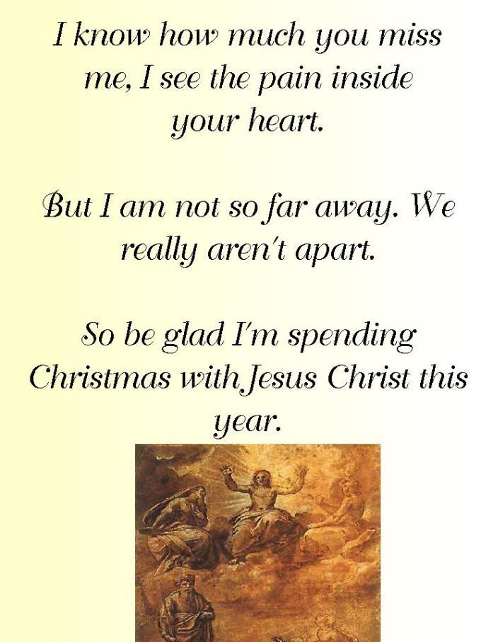 similiar my christmas in heaven poem keywords
