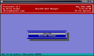 ReactOS Boot Loader Screen