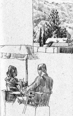 freehand sketchbook drawing