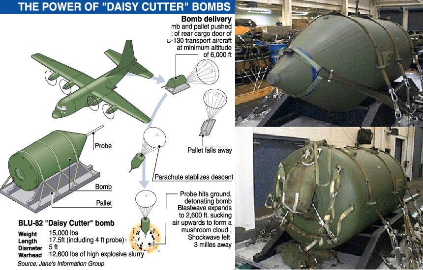 Image result for Daisy Cutter Bomb Explosion