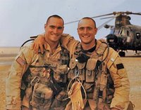 Pat Tillman (left) and his brother Kevin in Iraq in 2003