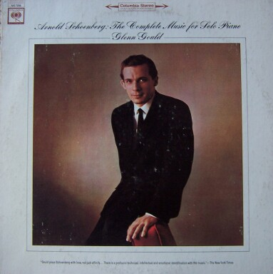 Glenn Gould Schoenberg album cover