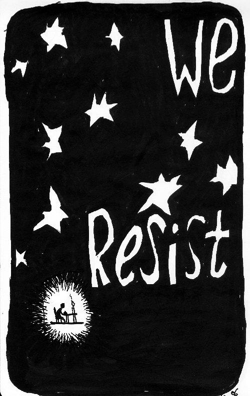 mazen's art - we resist
