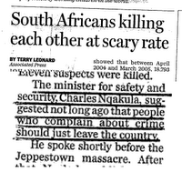 south african mess
