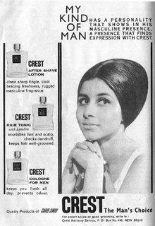 Crest after shave lotion, Crest hair tonic, Crest cologne for men