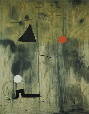 The Birth of the World. Montroig - late summer-fall 1925, Oil on canvas, 8 2 3/4 x 6 6 3/4 (250.8 x 200 cm), The Museum of Modern Art, New York, Joan Miró, Surrealismo